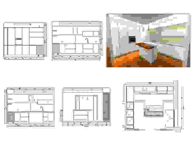 Progetto cucina Häcker di Simone Battistotti - SB design Moderno