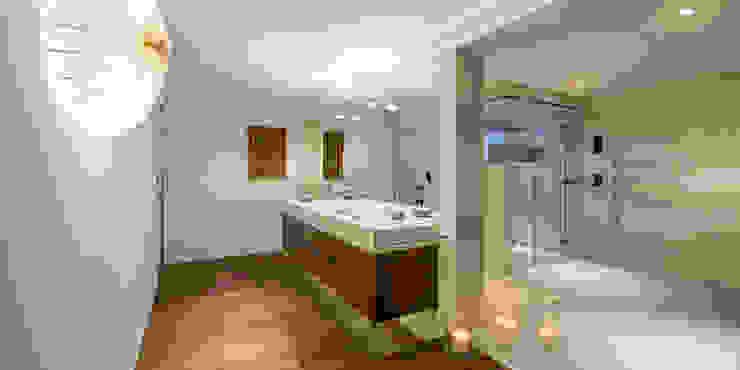 Waschtisch mit Unterschrank Moderner Spa von peter glöckner architektur Modern