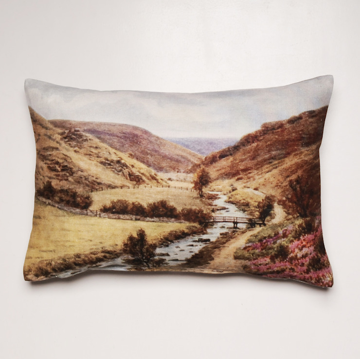 CUSHION, VALLEY SCENERY DESIGN: country  by chocolate creative, Country