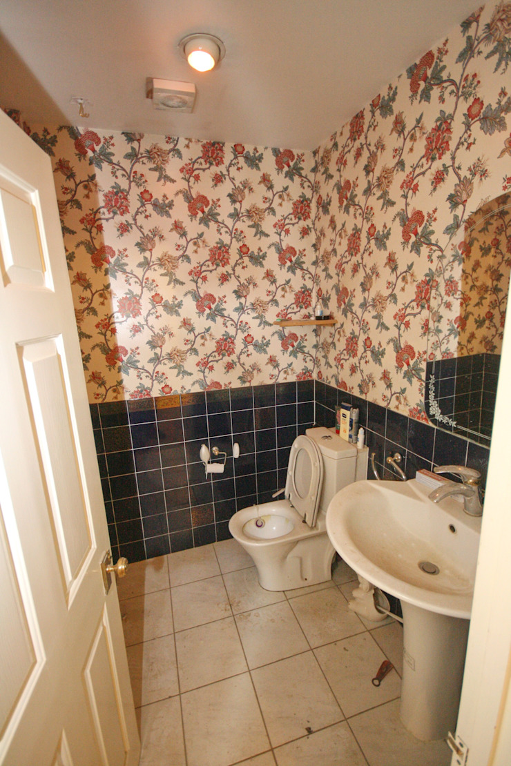 Downstairs guest toilet - before by Aura Designworks Ltd