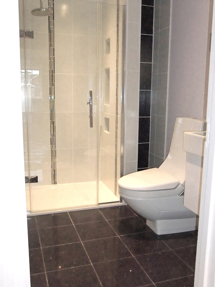 en-suite to bedroom 3 by Aura Designworks Ltd