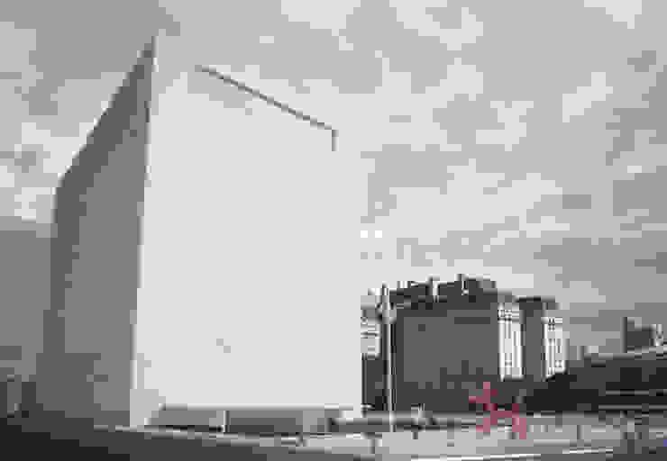 Vue de la place Musées modernes par Wen Qian ZHU Architecture Moderne