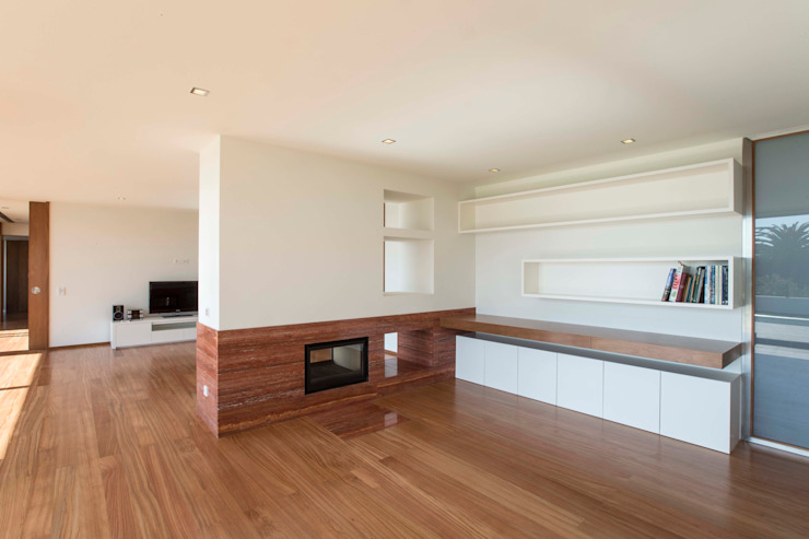 Casa JD Salas de estar modernas por Atelier Lopes da Costa Moderno