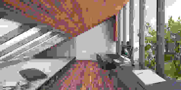 Projekty,  Domy zaprojektowane przez Wen Qian ZHU Architecture, Rustykalny
