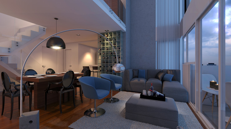 Choice Ideia1 Arquitetura Salas de estar modernas