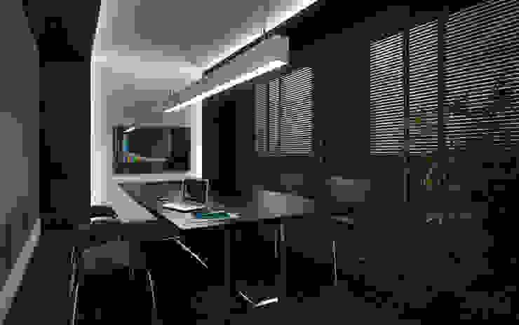 Bureau moderne par Ideia1 Arquitetura Moderne