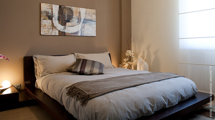 Ristrutturazione abitazione AR a Pescara Camera da letto eclettica di Studio Sabatino Architetto Eclettico