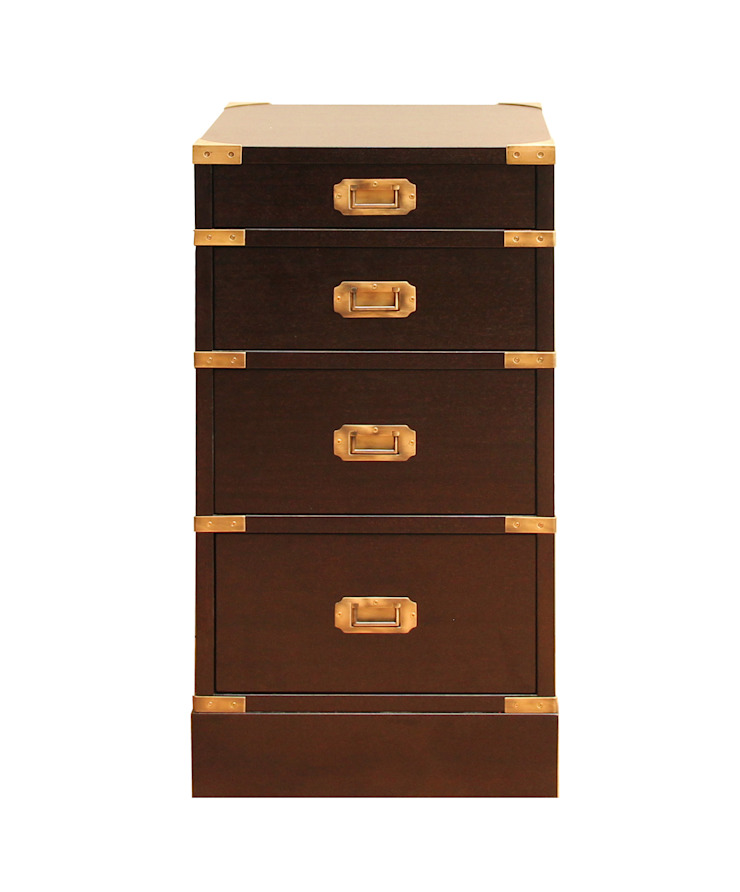 Campaign Bedside Chest: colonial  by Justin Van Breda, Colonial