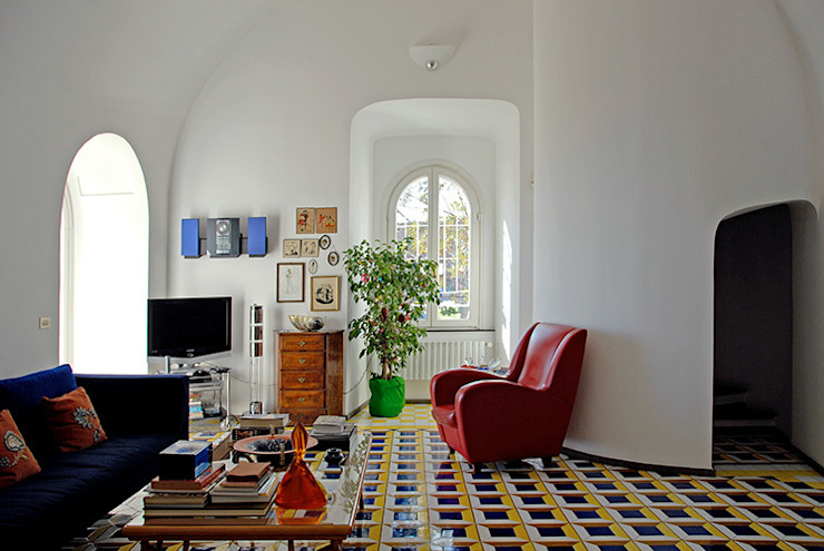 Mediterranean style living room by Sergio Prozzillo Ass.ti Mediterranean