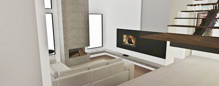 Modern Living Room by start.arch architettura Modern