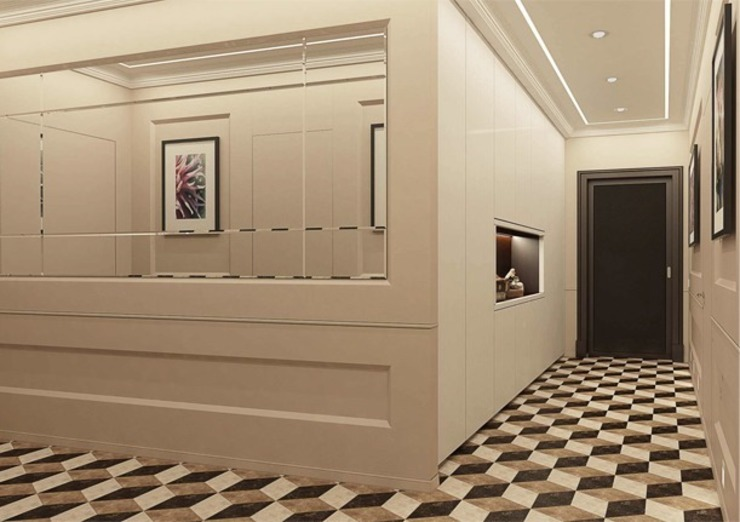Classic style corridor, hallway and stairs by Павел Белый и дизайнеры Classic