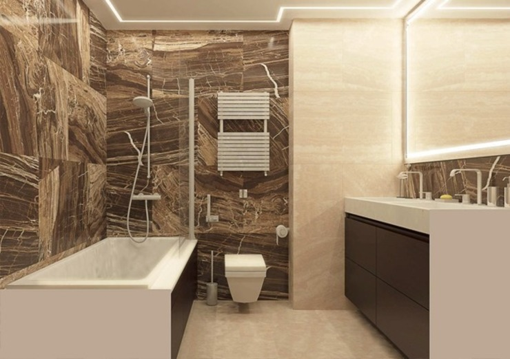 Salle de bain minimaliste par Павел Белый и дизайнеры Minimaliste