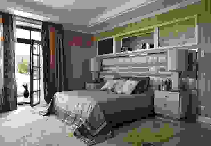 загородный дом 450 кв м Спальня в стиле модерн от point-design.ru Модерн