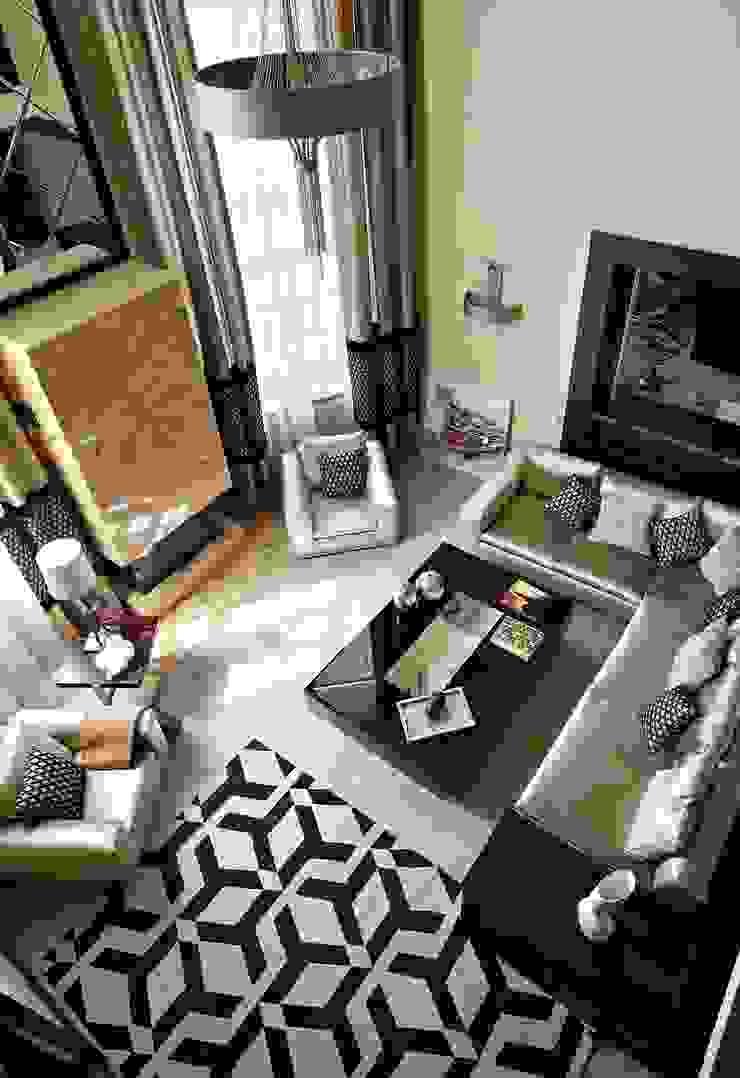 загородный дом 450 кв м Гостиная в стиле модерн от point-design.ru Модерн