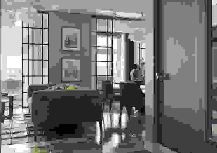 Входная зона в квартиру в стиле современного ар деко Коридор, прихожая и лестница в классическом стиле от Павел Белый и дизайнеры Классический
