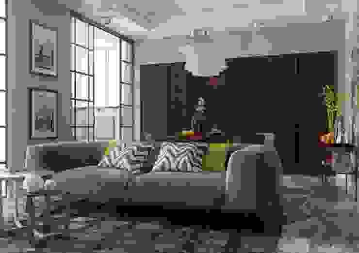 Гостиная , за мобильной перегородкой скрывается кухня Гостиная в классическом стиле от Павел Белый и дизайнеры Классический