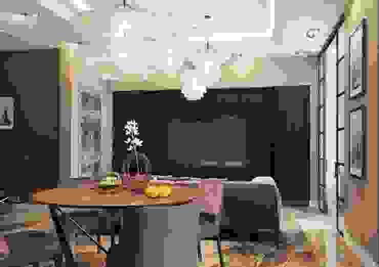 Гостиная в небольшой квартире в стиле ар деко Москва ЖК Шатер Гостиная в классическом стиле от Павел Белый и дизайнеры Классический