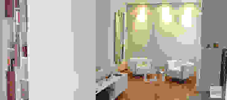 Interior Design Villa CDM a Bolognano (PE) Ingresso, Corridoio & Scale in stile moderno di Studio Sabatino Architetto Moderno