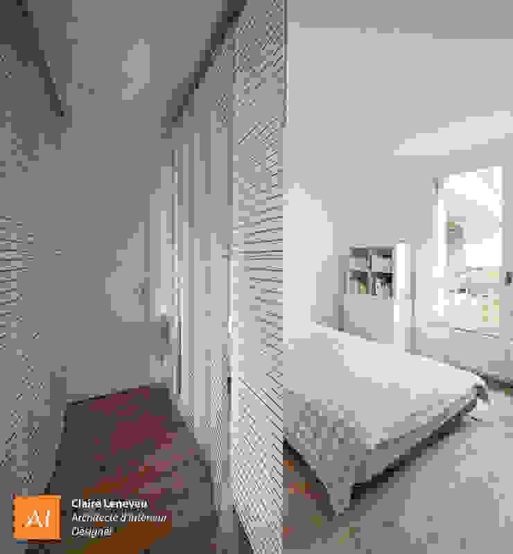 Chambre avec vue sur jardin Chambre moderne par Claire Leneveu Moderne