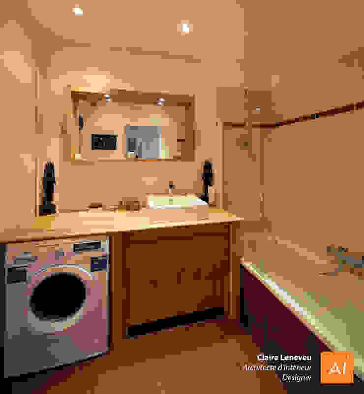 Salle de bain chaleureuse et intimiste Salle de bain moderne par Claire Leneveu Moderne