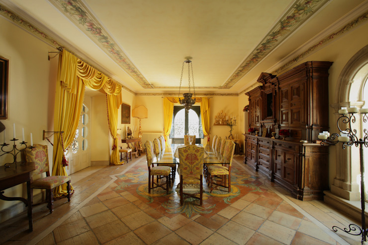 La Dimora di Valverde Sala da pranzo in stile classico di Architetto Giuseppe Prato Classico