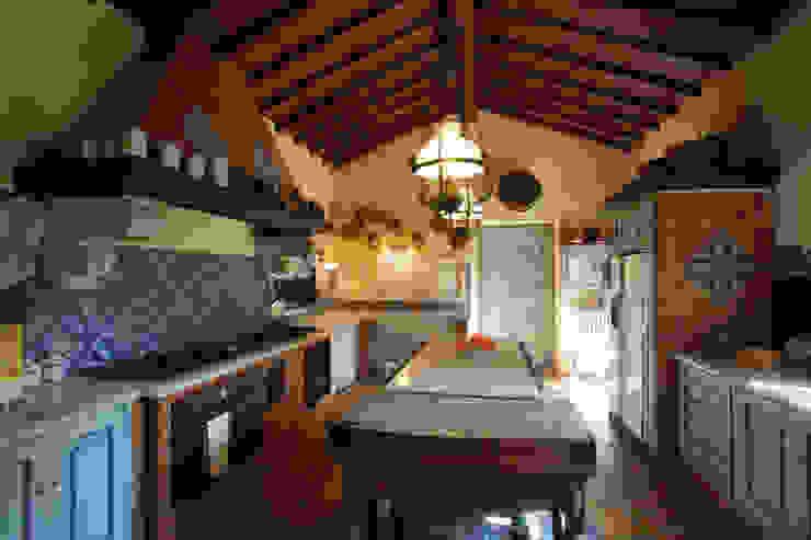 Projekty,  Kuchnia zaprojektowane przez Architetto Giuseppe Prato, Rustykalny