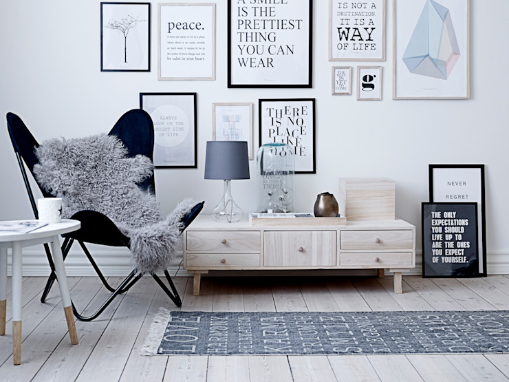Bloominville Storage Unit Soggiorno in stile scandinavo di House Envy Scandinavo