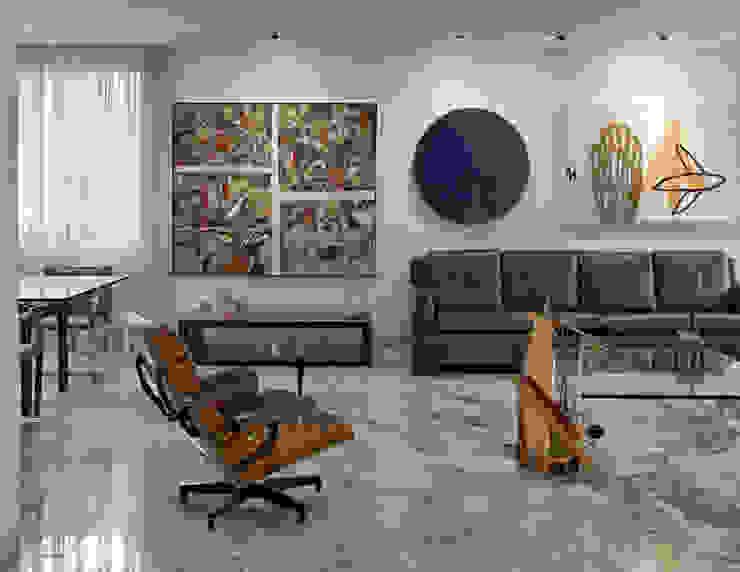 Art, home Salas de estar modernas por Jaqueline Frauches Arquitetura e Interiores Moderno