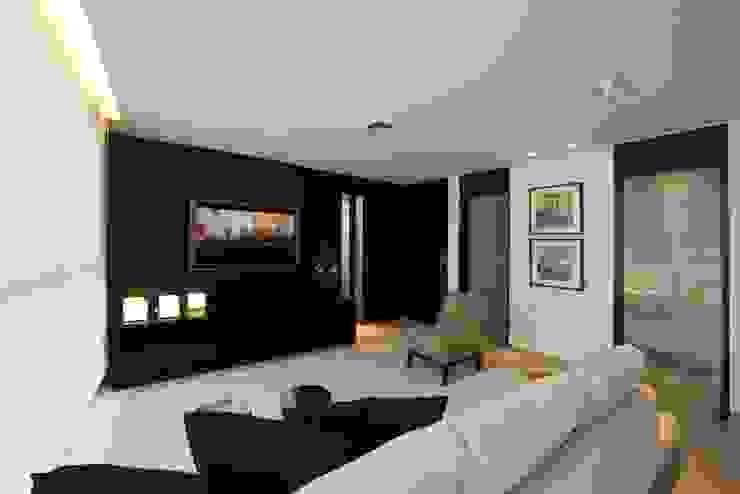 Decorado Salas de estar modernas por Jaqueline Frauches Arquitetura e Interiores Moderno