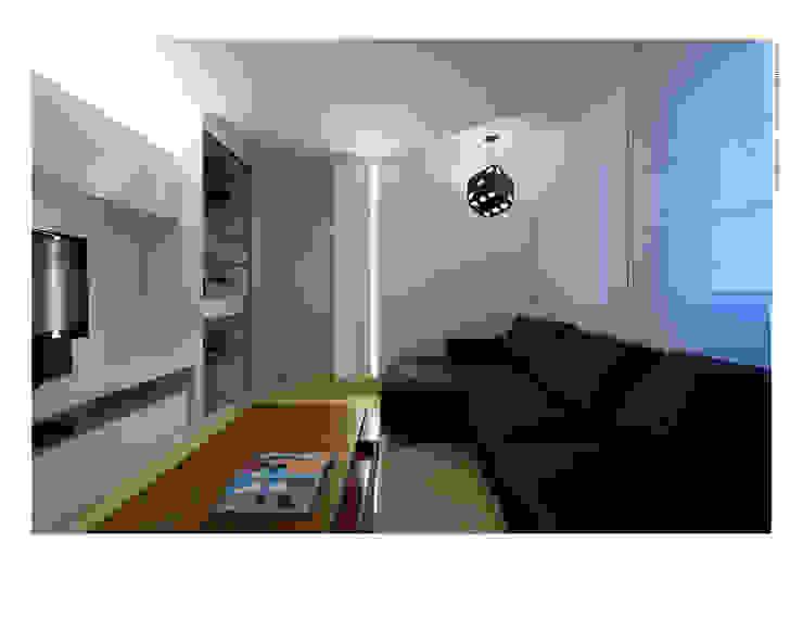 Pequeno notável Salas de estar modernas por Jaqueline Frauches Arquitetura e Interiores Moderno