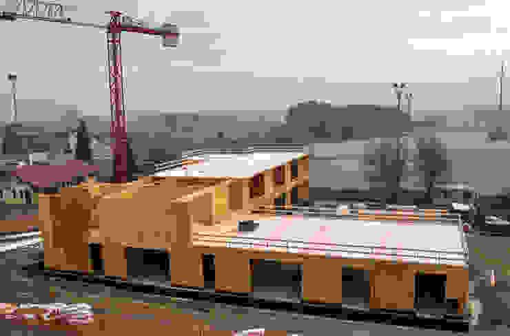 Cantiere: realizzazione della struttura in legno xlam di Studio FFwd-Architettura