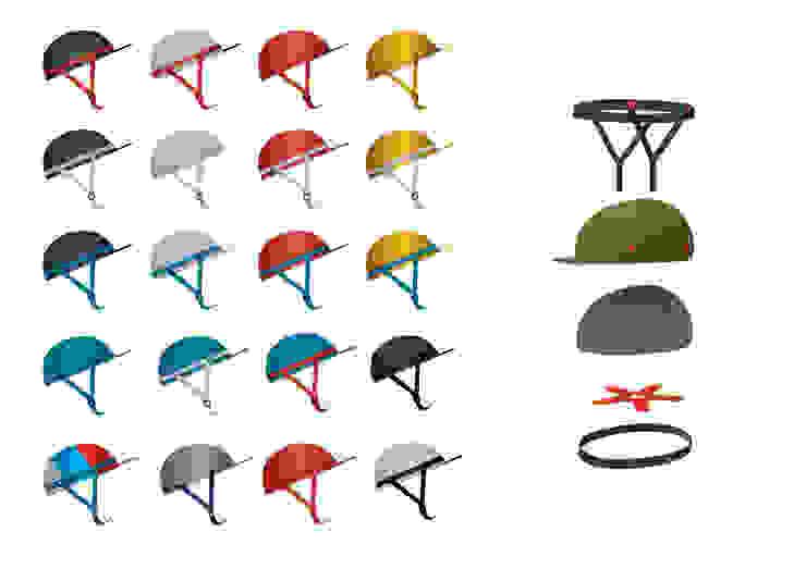 Urban Bicycle Helmet for KRUST: industrial  by studio deFORM, Industrial