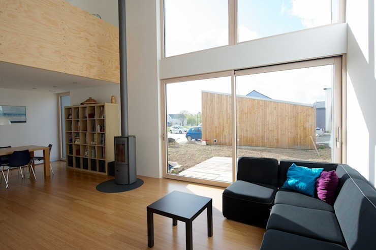 MD12-séjour Salon minimaliste par Tektolab architectes Minimaliste