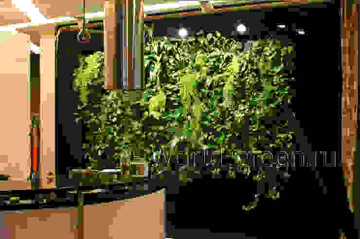 Фитостена на кухне Кухня в классическом стиле от Зеленый мир Классический