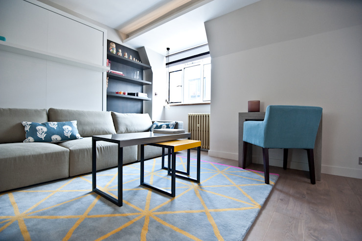 City Pied a Terre Modern living room by Black and Milk | Interior Design | London Modern