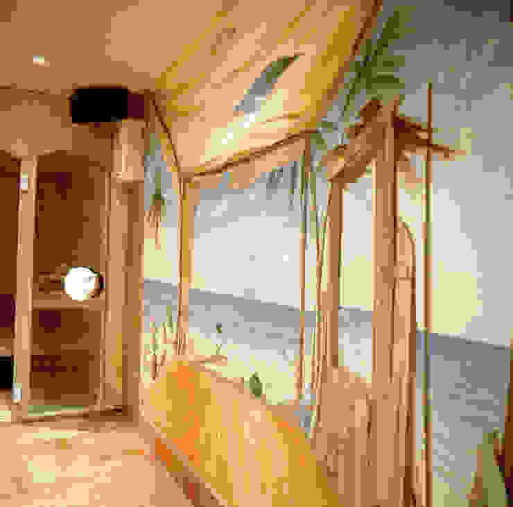 Dettaglio area wellness Spa in stile classico di Studio Mingaia Classico