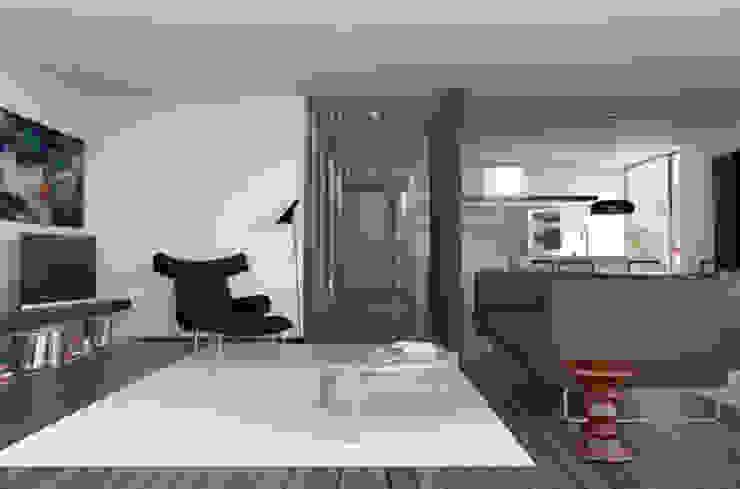 Appartamento sul Lago di Costanza ad Arbon Soggiorno moderno di ZDA Zanetti Design Architettura Moderno