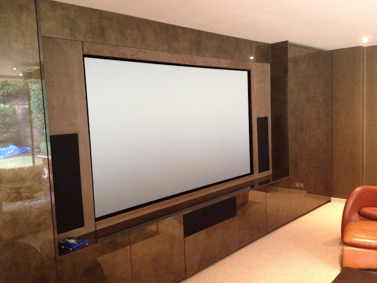 Multi purpose cinema room Designer Vision and Sound Salas de entretenimiento de estilo moderno
