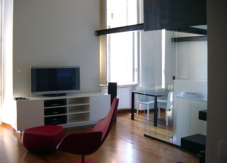 appartamento in piazza della Consolata TORINO Soggiorno moderno di BOTTEGA STUDIO ARCHITETTI Moderno