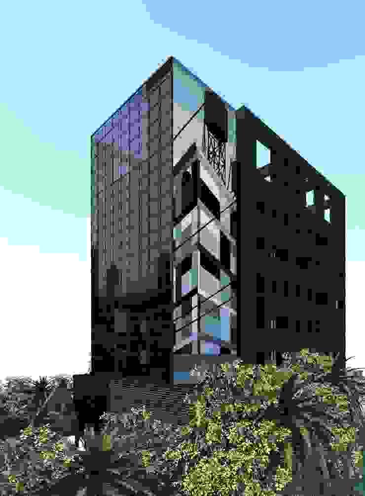 Minimalistische Bürogebäude von ZAAV Arquitetura Minimalistisch