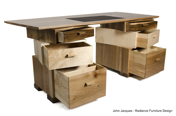 Magnetic Stack Desk with Fitted Humidor: modern  by Radiance Furniture Design, Modern