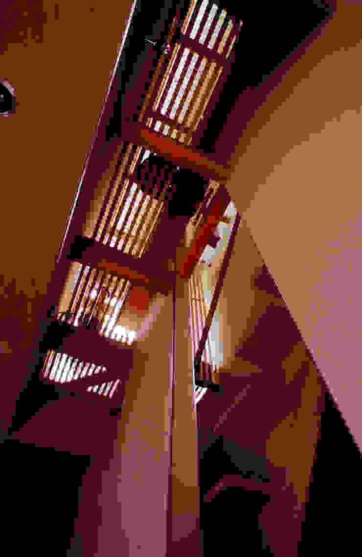 空中図書館 オリジナルスタイルの 玄関&廊下&階段 の 濱嵜良実+株式会社 浜﨑工務店一級建築士事務所 オリジナル