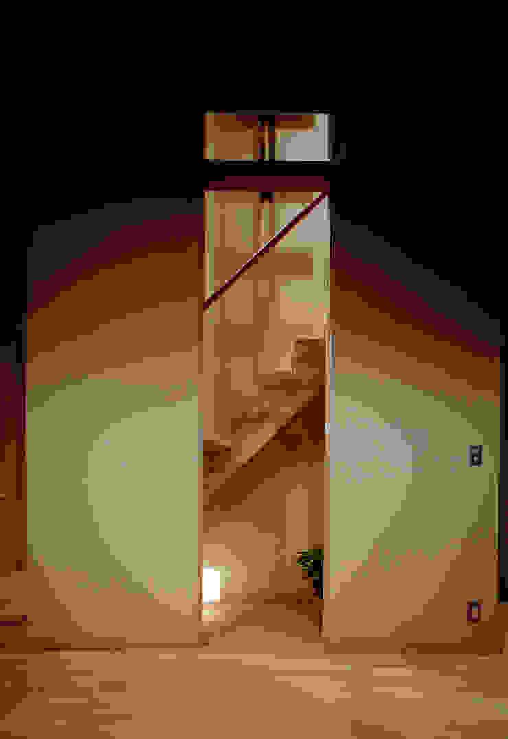 階段 オリジナルスタイルの 玄関&廊下&階段 の 濱嵜良実+株式会社 浜﨑工務店一級建築士事務所 オリジナル