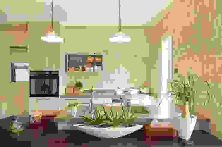 中庭のある家 オリジナルデザインの キッチン の 株式会社 創匠 オリジナル
