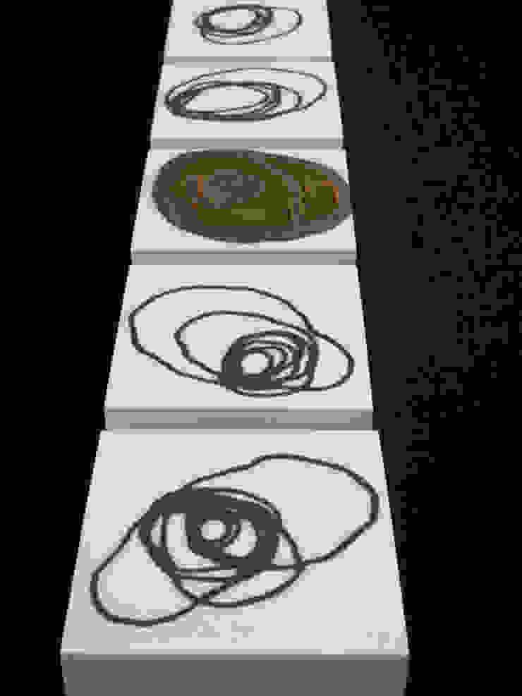 Signals of life - E - Composition I and II van Marc Verbruggen - ceramic art Minimalistisch