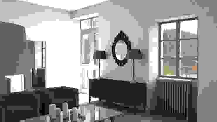 Rénovation d'un appartement à Biarritz Salon moderne par AGENCE GAEL DEVINCK Moderne