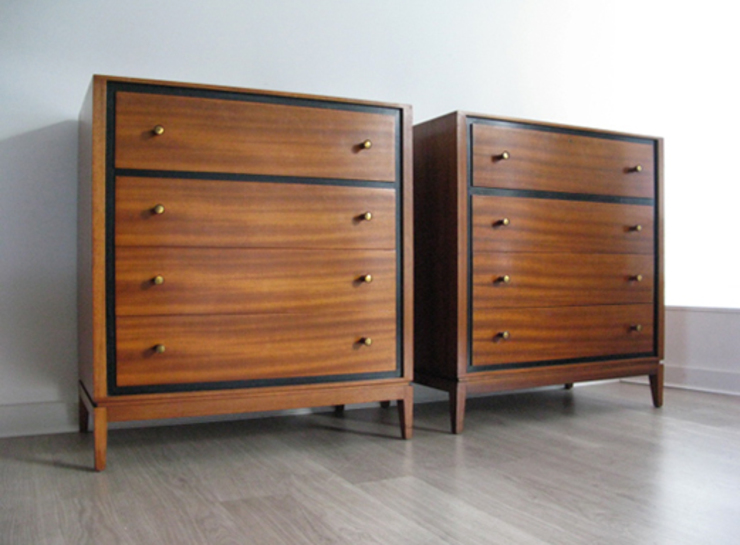 Pair of 1960s Heals 'his and hers' chest of drawers: scandinavian  by Funky Junky, Scandinavian