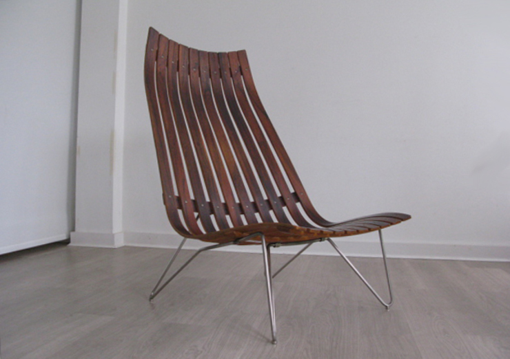 1960s 'Scandia' senior lounge chair by Hans Brattrud for Hove Mobler: scandinavian  by Funky Junky, Scandinavian