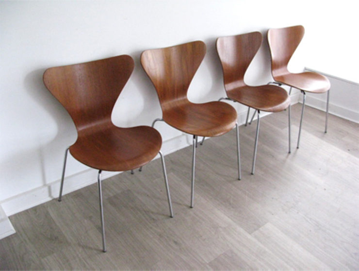 1960s '3107' teak chairs by Arne Jacobsen for Fritz Hansen: scandinavian  by Funky Junky, Scandinavian