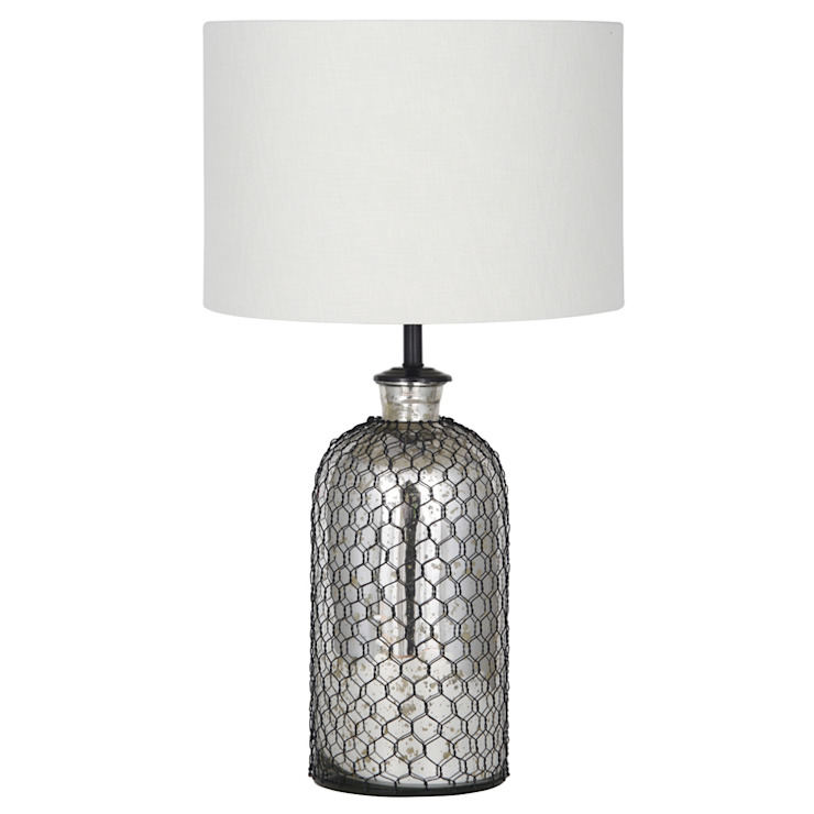 Netted Mercury Glass Table Lamp: industrial  by House Envy, Industrial